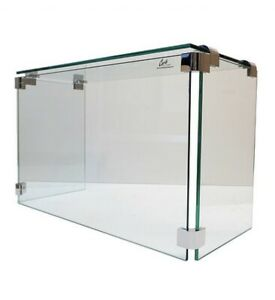 Carib 3ft 36 Frameless Pizza Display Case Sneeze Guard W Stainless Steel Clamps