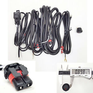 10 Ft Wiring Harness 9006 2 Plugs Wire For Fog Light Relay On Off Switch 12v 30a