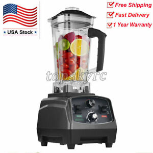 2l Commercial Blender W Timer 2200w Bpa free Fruit Juicer Variable Speeds Topus