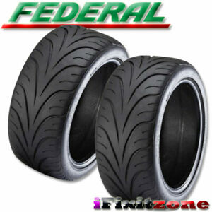 2 New Federal 595rs r 255 35zr18 90w Summer Performance Sport Racing Uhp Tire