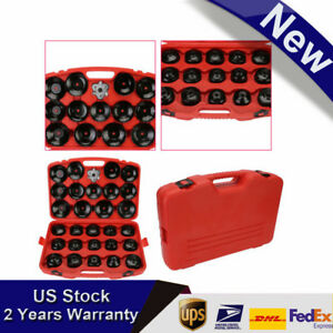 30pcs Oil Filter Cup Tyre Wrench Socket Removal Set Kit 3 8 Tool With Case
