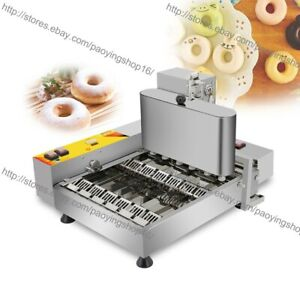 6pcs row Heavy Duty Electric Automated Mini Doughnut Donut Machine Maker Fryer