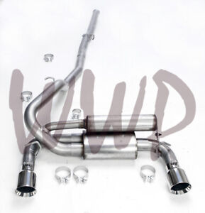 Stainless Steel 3 Dual Cat Back Exhaust System 16 19 Ford Focus Rs 2 3l Ecoboost