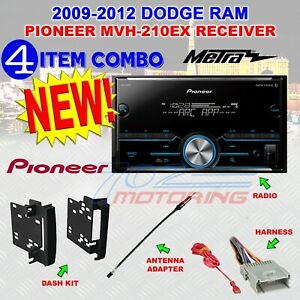 2009 2012 Dodge Ram Pioneer Bluetooth Usb Aux Eq Double Din Car Radio Stereo Pkg