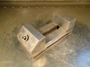 3 1 2 Wide Jaw Precision Toolmakers Grinding Vise Jaws Open 4 1 2 Used Good