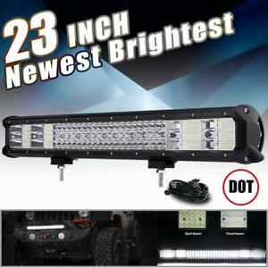 3760w Quad Row 23 Inch Led Light Bar Combo Offroad For Jeep Ford F 150 Pickup