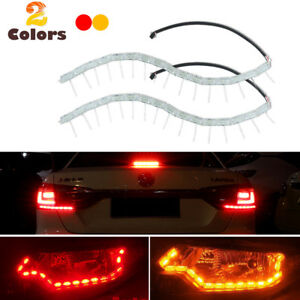 2x Switchback Red Led Strip Lights W Amber Sequential Signal For Taillight Mods