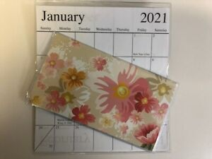 1 2020 2021 Pink Floral Watercolor 2 Year Pocket Calendar Planner
