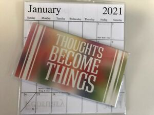 1 2020 2021 Inspirational Thoughts Become 2 Year Pocket Calendar Planner