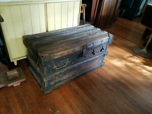 Vintage Trunk Vanderman 1897 Gold Silver Railroad Stagecoach Strong Box