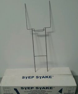 25 U Top Heavy Duty Galvanized Step Stakes Yard Sign Wire Stands