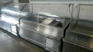 Traulsen 78 Seafood Display Case Tdo78ht Refrigerated Curved Glass Cabinet