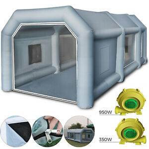 26x15x10ft Spray Booth Inflatable Tent Car Paint Portable Cabin W Ul 2 Blowers