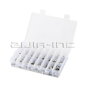 400pcs 24 Patches Smd Aluminum Electrolytic Capacitor For Diy Black Silver