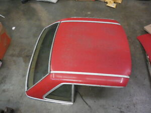 73 89 Mercedes W107 R107 Hardtop Convertible Cover Top Red 450sl