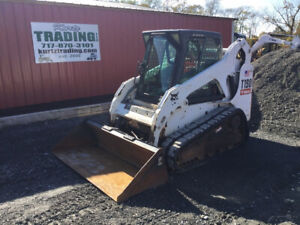2007 Bobcat T190 Compact Track Skid Steer Loader W Cab Only 1600 Hours