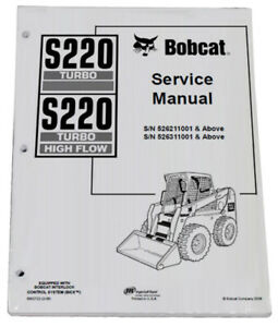 Bobcat S220 Skid Steer Loader Service Manual Shop Repair Book 2 Part 6902722