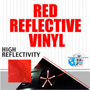 Reflective Red Sign Vinyl Adhesive Safety Plotter Cutter 12 x10ft