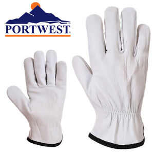 Portwest Oves Driver Sheepskin Leather Work Gloves Select Size