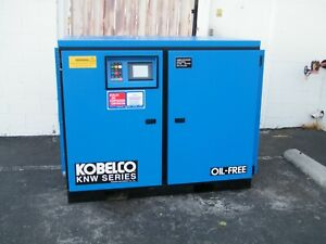 Kobelco Knw O b h 60 Hp Rotary Screw Air Compressor Oil Free Two Stage