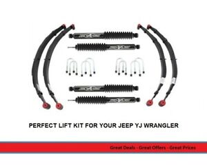 2 5 Inch Lift Kit W Leaf Springs And Rubicon Shocks For Jeep Wrangler Yj Models
