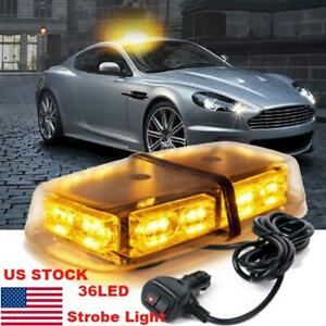 Amber Yellow 36led Strobe Light Emergency Warning Flashing Beacon For 12v Truck