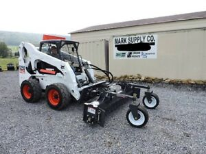 2020 Virnig 90 Harley Power Rake Skid Steer Attachment Bobcat Loader Rock Hound