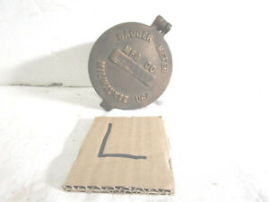 Vintage Badger Meter Mfg Co Bronze Water Meter Housing Cover