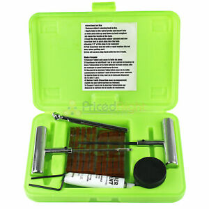 37 Piece Deluxe Tire Repair Kit Plug Portable Storage Case Grip Tools 52113 Set