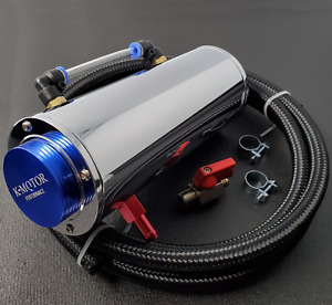 Aluminum Coolant Reservoir Tank Kit With Hose