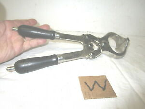 Large Vintage St Steel Polished N Burdizzo Bull Castrator Pinch Tool