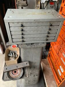 Huot Drill Cabinet Index Numbered Drills 1 Through 60 Vintage Quality