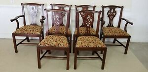 Set Of Six Henkel Harris Chairs Mahogany Chippendale 101