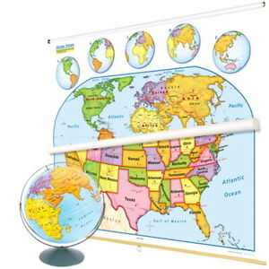 Nystrom U S And World Map Early Learning Classroom Pack With Globe