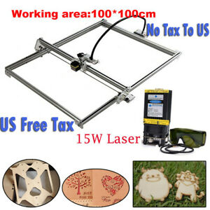Cnc100 100 Router Kit 15w Laser Module Wood Carving Engrave Milling Diy Machine