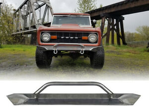 1966 1977 Ford Bronco Front Bumper Raw Steel
