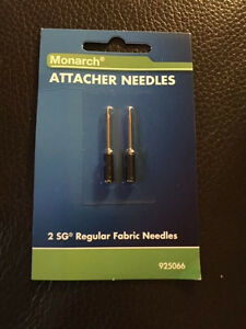 New Monarch Needles For Sg Tag Attacher Kit 2 Needles Per Pack Sealed
