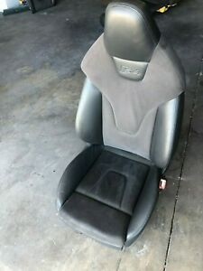 2010 2011 2012 2013 Audi S4 Passenger Right Leather Suede Bucket Seat Oem