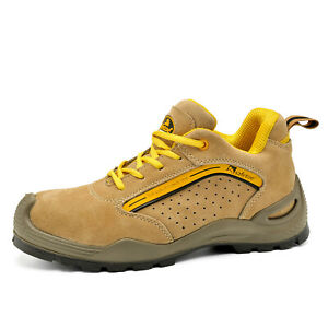 Safetoe Safety Shoes Mens Work Boots Steel Toe Foot Protection Breathable L 7296