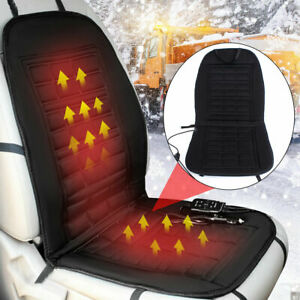 Car Auto Front Seat Hot Heated Pad Cushion Warmer Protectors Cover Black Us