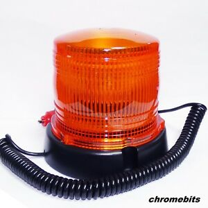 24 Led Magnetic Mounting Flashing Beacon Warning Light Car Van Truck 4x4 Tractor