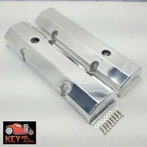 Small Block Chevy Polished Fabricated Aluminum Valve Covers Welded Sbc 350 400