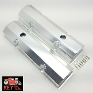 Small Block Chevy Satin Fabricated Aluminum Valve Covers Welded Sbc 350 400