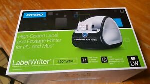 Dymo Labelwriter Turbo 450 Black And White Label Thermal Printer W labels