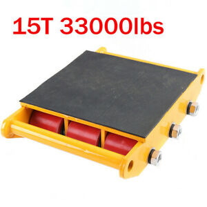 New 33000lbs 15t Industrial Machinery Mover Roller Dolly Skate W 9 Rollers Usa