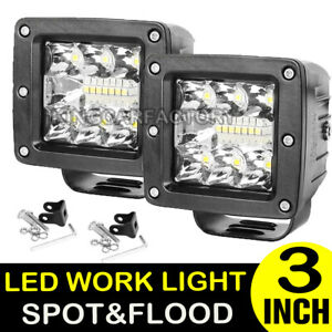 2x 3inch 120w Cree Led Work Light Cube Pods Driving Work Spot Light Flood 12v