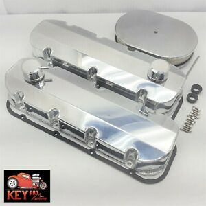 Big Block Chevy Polished Aluminum Fabricated Valve Covers Bbc 396 402 427 454