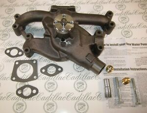 1958 1962 Cadillac Water Pump 365 390 V8 New With Hardware Free Shipping