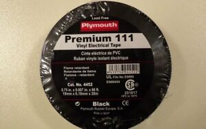 Lot Of 5 Plymouth Premium 111 Pvc Vinyl Insulating Electrical Tape