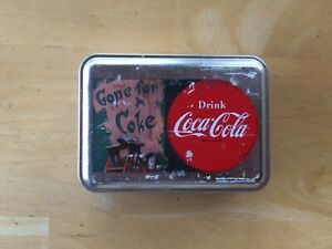 Case Coca Cola Peanut Red Handle Knife Mint w/ Factory Tin